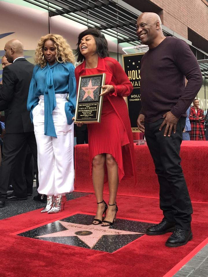 Mary J. Blige (left) Taraji P. Henson (middle) and John Singleton