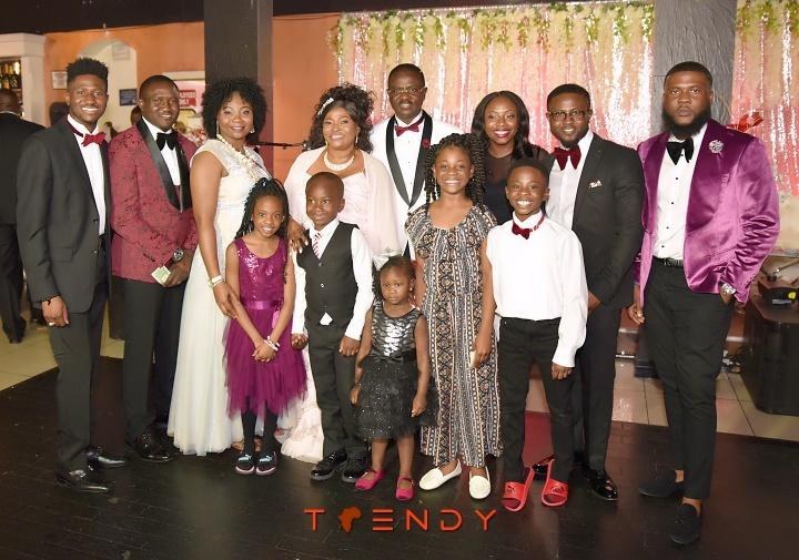 Laja Akintayo at 60 with family