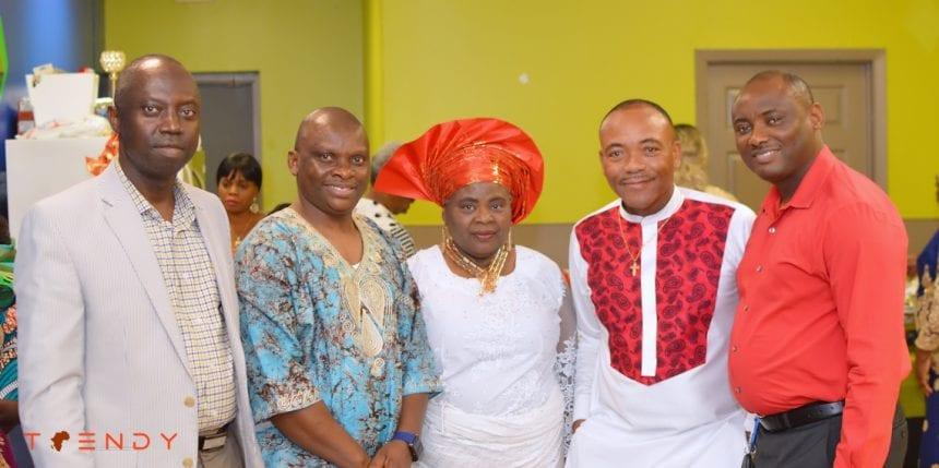 At the Celebration of life in honor of Ogbueshi Okonta