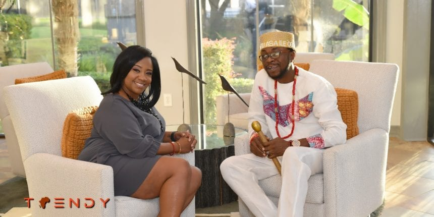 Gena Hampton and Chief Oladotun Taylor