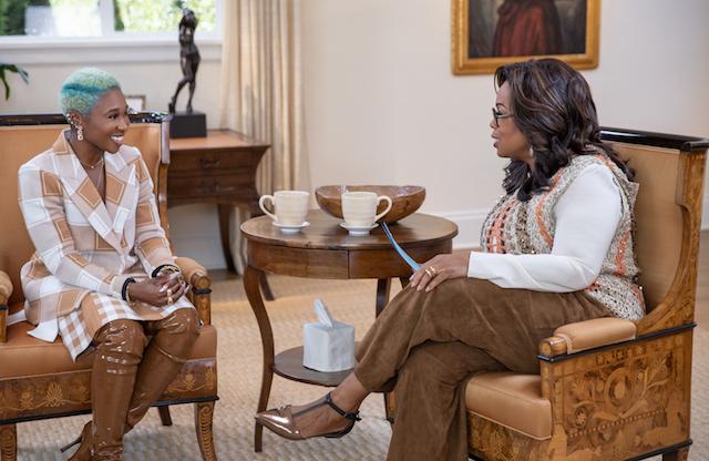 Cynthia Erivo and Oprah