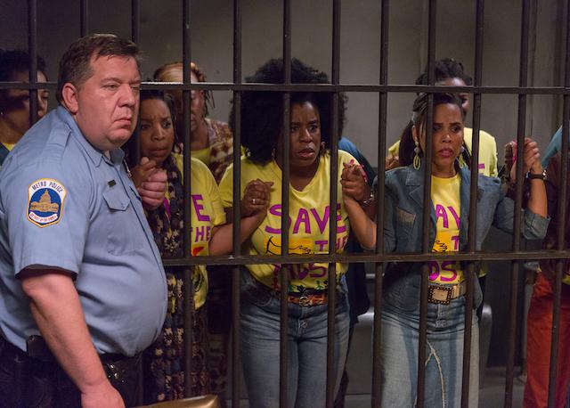 (L - R) Kimberly Hebert Gregory as Tasha White , Uzo Aduba as Virginia and Amirah Vann as Shondae Smith in the dram