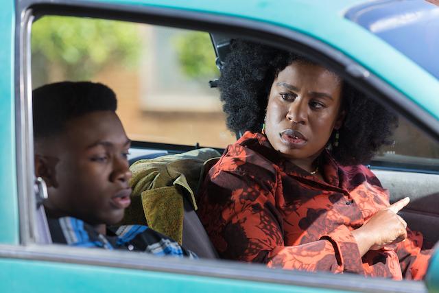(L - R) Niles Fitch as James and Uzo Aduba as Virginia