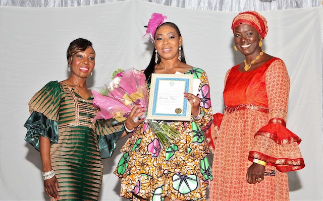 Monalisa Okojie  (middle) is recognized for her impact in the community