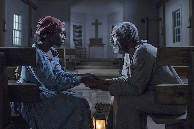 Cynthia Erivo stars as Harriet Tubman and Vondie Curtis-Hall as Reverend Green - Credit Glen Wilson  Focus Features