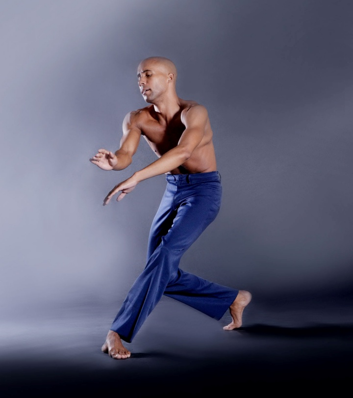 "DBDT dancer Sean J. Smith dancing ""Reflections in D"" in photograph by Brian Guilliaux."