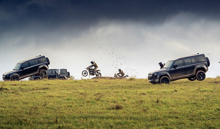 Land Rover Defender in James Bond 'No time to die'