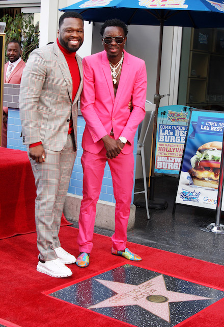 Curtis [50 Cent] Jackson and Michael Blackson